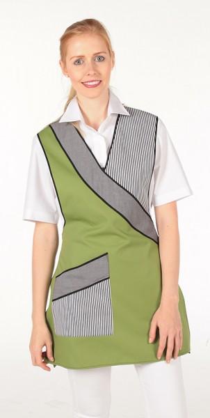 blattgrün/melange-grau/Streifen schwarz
