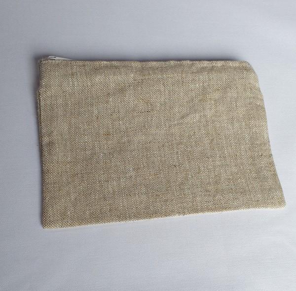 Kleine Etui-Tasche aus Rohleinen
