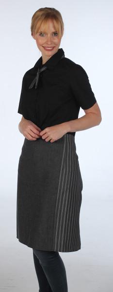 melange schwarz/Streifen schwarz breit