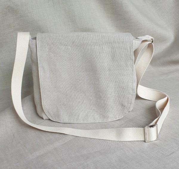 Snackbag-Umhängetasche: außen Leinen